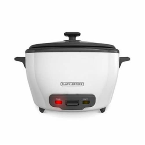 Applica Black-Decker 28-Cup Rice Cooker, White Out Perspective: front
