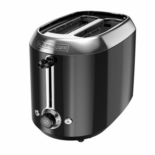 BLACK + DECKER 2 Slice Toaster - Black Perspective: front