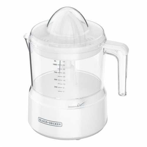 Black and Decker 7.25 in. W x 7.25 in. L White Plastic Juicer - Case Of: 1; Each Pack Qty: 1; Perspective: front