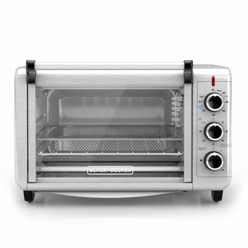 BLACK + DECKER Toaster Oven Air Fryer - Silver Perspective: front