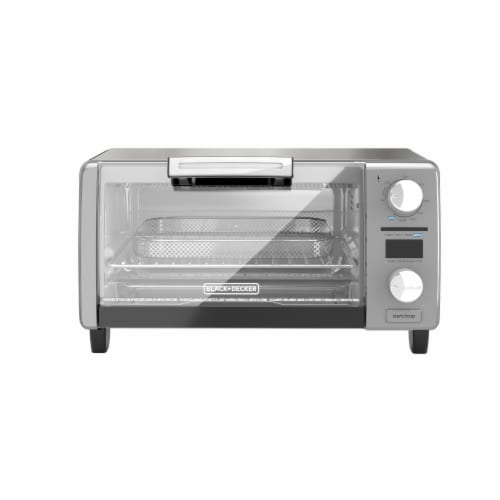 BLACK + DECKER Digital Air Fry Toaster Oven - Silver Perspective: front