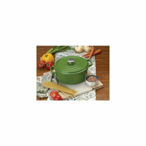 Bayou Classic 5 qt. Dutch Oven-Enameled Cast Iron, Green Perspective: front