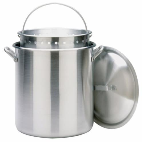 Bayou Classic 100-Qt. Stockpot with Lid and Basket Perspective: front