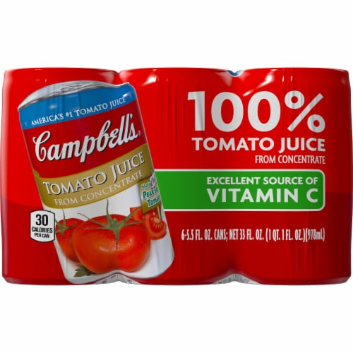 Campbell's Tomato Juice from Concentrate 6 Count Perspective: front