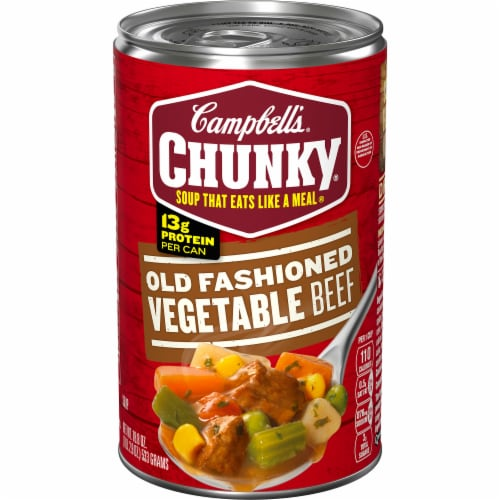 Campbell's Chunky Old Fashioned Vegetable Beef Soup Perspective: front