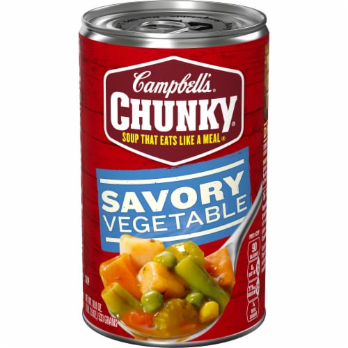 Campbell's Chunky Savory Vegetable Soup Perspective: front
