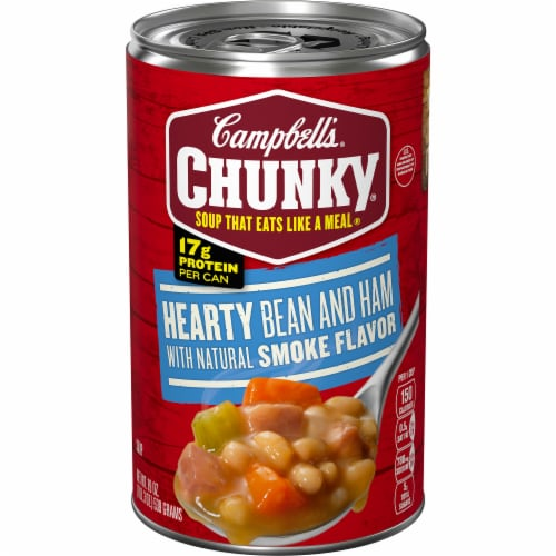 Campbell's Chunky Hearty Bean & Ham Soup Perspective: front