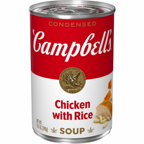 Campbell's Chicken with Rice Condensed Soup Perspective: front