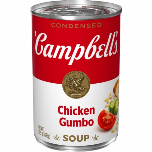 Campbell's Light Chicken Gumbo Condensed Soup Perspective: front