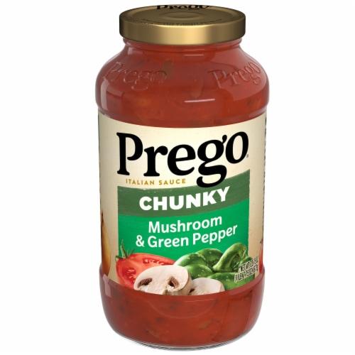 Prego Chunky Garden Mushroom & Green Pepper Italian Pasta Sauce Perspective: front