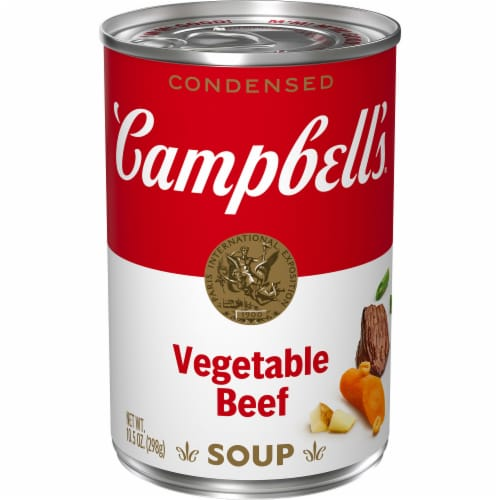 Campbell's® Condensed Vegetable Beef Soup Perspective: front