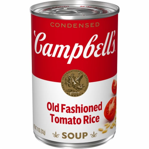 Campbell's Old Fashioned Tomato Rice Condensed Soup Perspective: front
