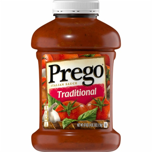 Prego Traditional Pasta Sauce Perspective: front