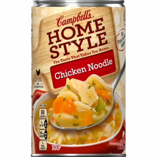 Campbell's Home Style Chicken Noodle Soup Perspective: front