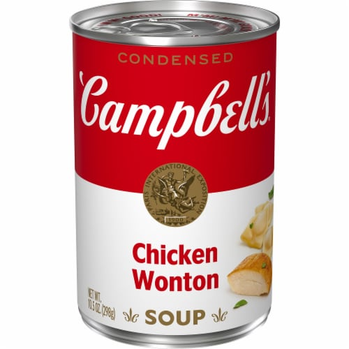 Campbell's Chicken Won Ton Condensed Soup Perspective: front
