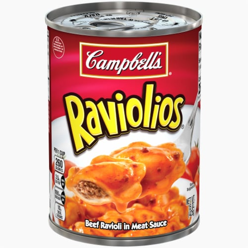 Campbell's Raviolios Beef Ravioli in Meat Sauce Perspective: front