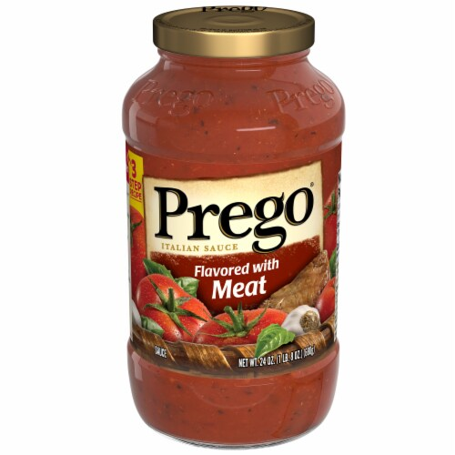 Prego Gluten Free Italian Tomato Sauce Flavored with Meat Perspective: front