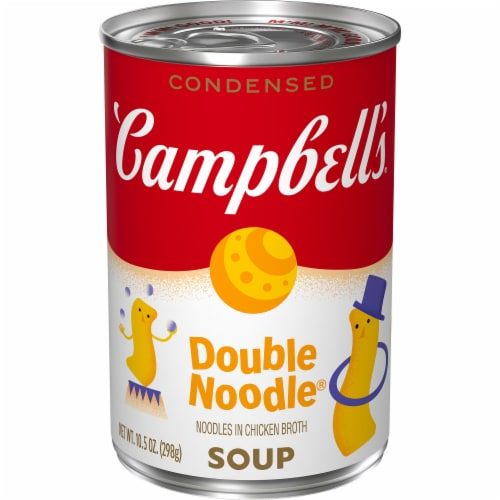 Campbell's Classic Recipe Double Noodle Condensed Soup Perspective: front