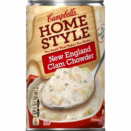 Campbell's Homestyle New England Clam Chowder Perspective: front