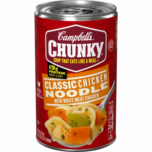 Campbell's Chunky Classic Chicken Noodle Soup Perspective: front