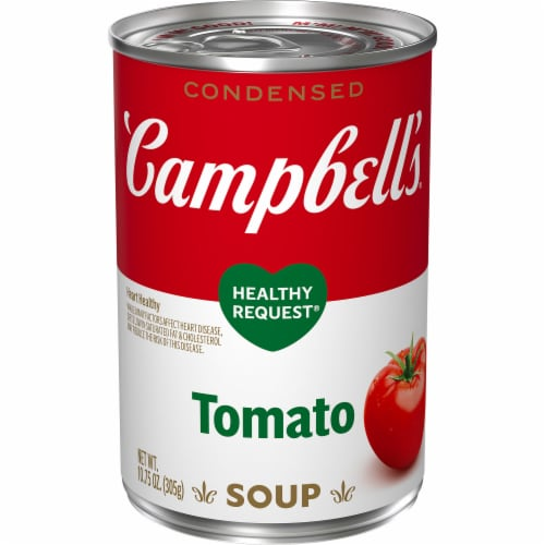 Campbell's Condensed Healthy Request Tomato Soup Perspective: front