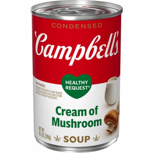 Campbell's Healthy Request Cream of Mushroom Condensed Soup Perspective: front