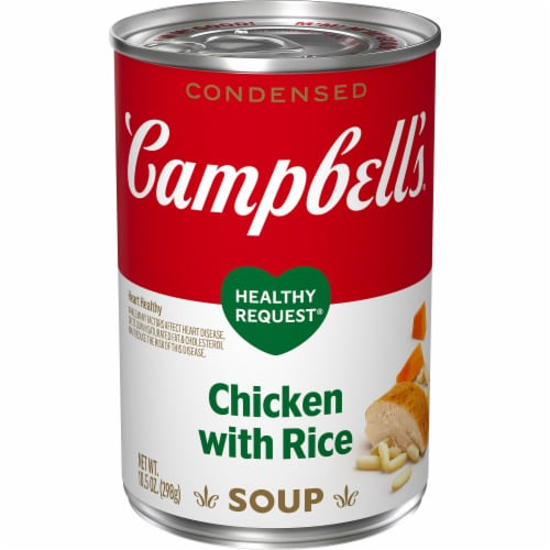 Campbell's Healthy Request Chicken with Rice Condensed Soup Perspective: front