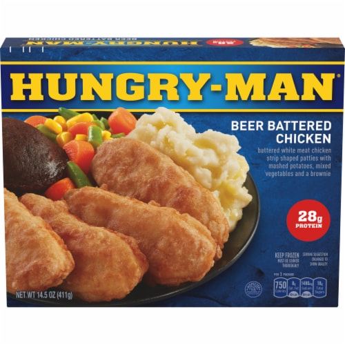 Hungry-Man Beer Battered Chicken Frozen Meal Perspective: front