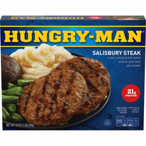 Hungry-Man Salisbury Steak Frozen Meal Perspective: front