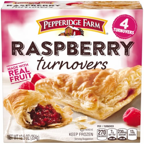Pepperidge Farm Raspberry Turnovers Perspective: front