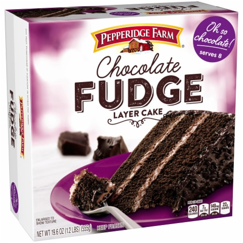 Pepperidge Farm Chocolate Fudge Layer Cake Perspective: front