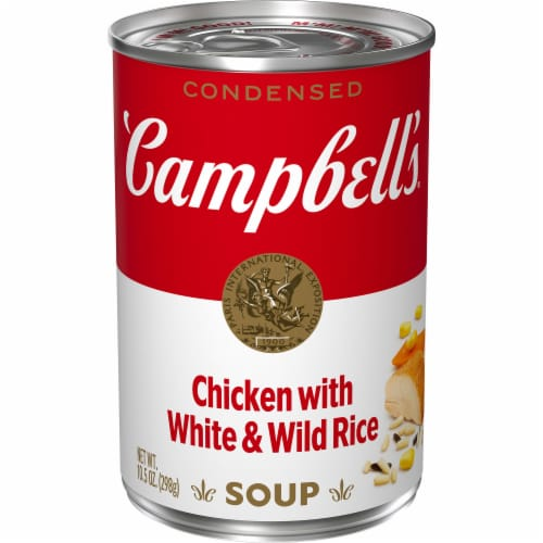 Campbell's Light Chicken with White & Wild Rice Condensed Soup Perspective: front