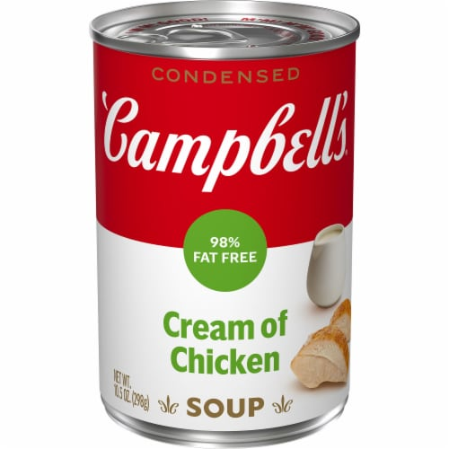 Campbell's 98% Fat Free Cream of Chicken Soup Perspective: front