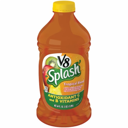 V8 Splash Tropical Blend Juice Perspective: front