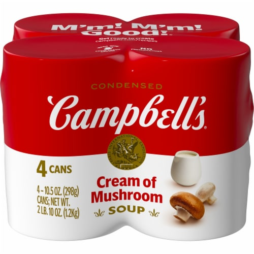 Campbell's Cream of Mushroom Condensed Soup Perspective: front