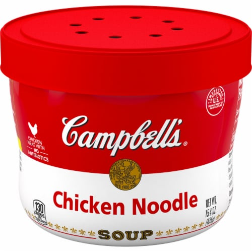 Campbell's Microwavable Chicken Noodle Soup Perspective: front