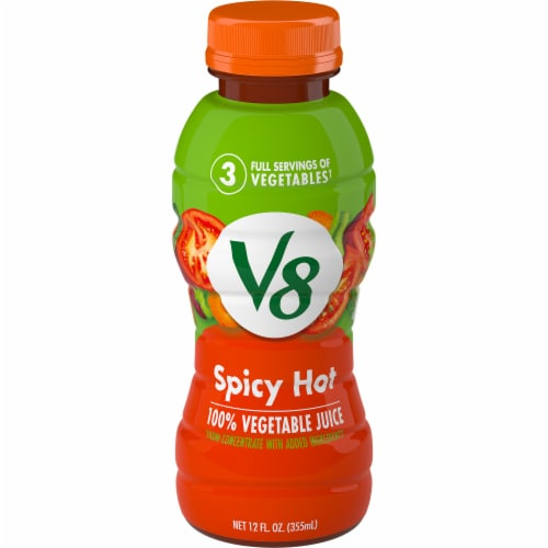 V8 Spicy Hot 100% Vegetable Juice Perspective: front