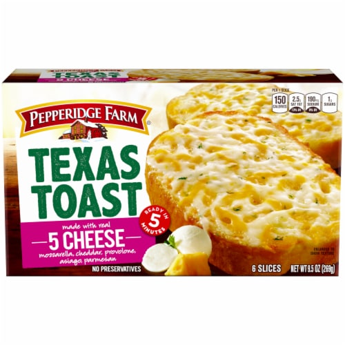 Pepperidge Farm 5 Cheese Texas Toast 6 Count Perspective: front