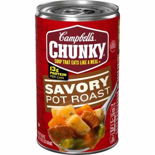 Campbell's Chunky Savory Pot Roast Soup Perspective: front