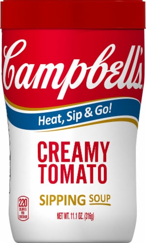 Campbell's Soup on the Go Creamy Tomato Soup Perspective: front