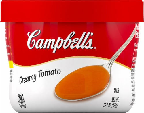 Campbell's Creamy Tomato Soup Perspective: front