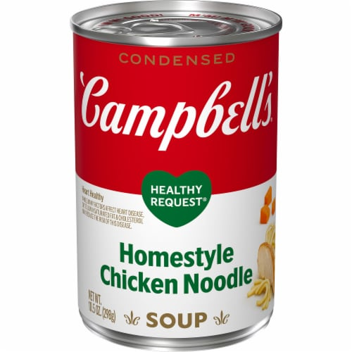 Campbell's Healthy Request Homestyle Chicken Noodle Condensed Soup Perspective: front