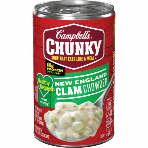 Campbell's Chunky Healthy Request New England Clam Chowder Perspective: front