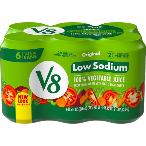 V8 Low Sodium 100% Vegetable Juice Perspective: front