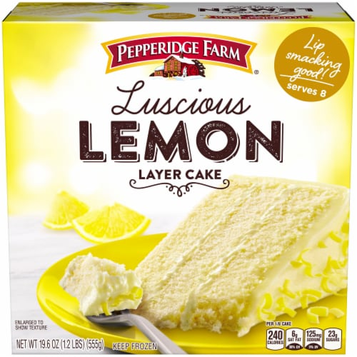 Pepperidge Farm Luscious Lemon Layer Cake Perspective: front
