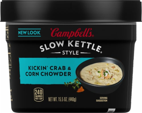 Campbell's Slow Kettle Style Kickin' Crab & Corn Chowder Perspective: front