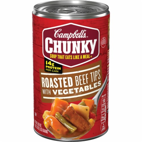 Campbell's Chunky Roasted Beef Tips with Vegetables Soup Perspective: front