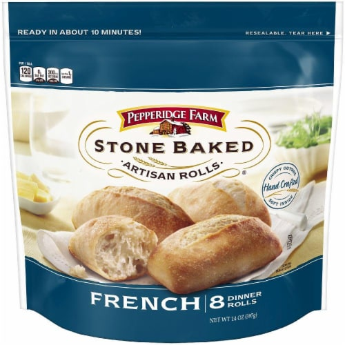 Pepperidge Farm Stone Baked French Rolls Perspective: front
