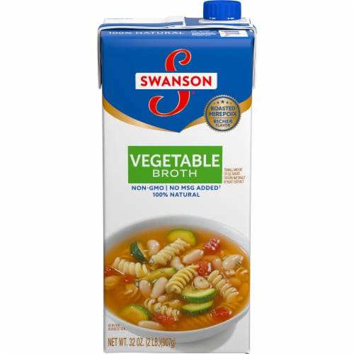 Swanson 100% Natural Vegetable Broth Perspective: front
