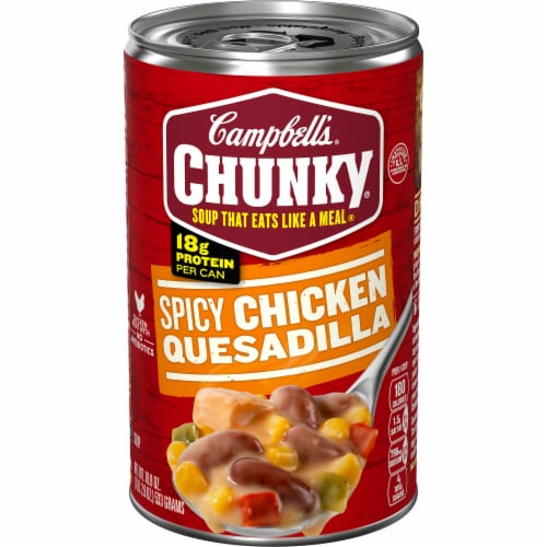 Campbell's Chunky Spicy Chicken Quesadilla Soup Perspective: front
